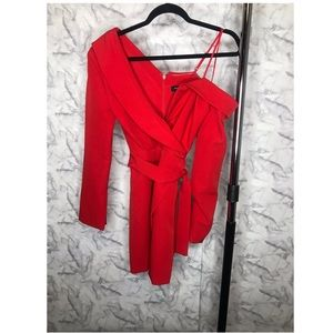 Dresses & Skirts - Red Blazer Style Dress